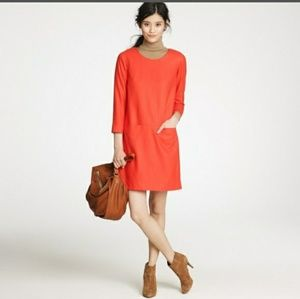 J crew short  shift dress with front pockets